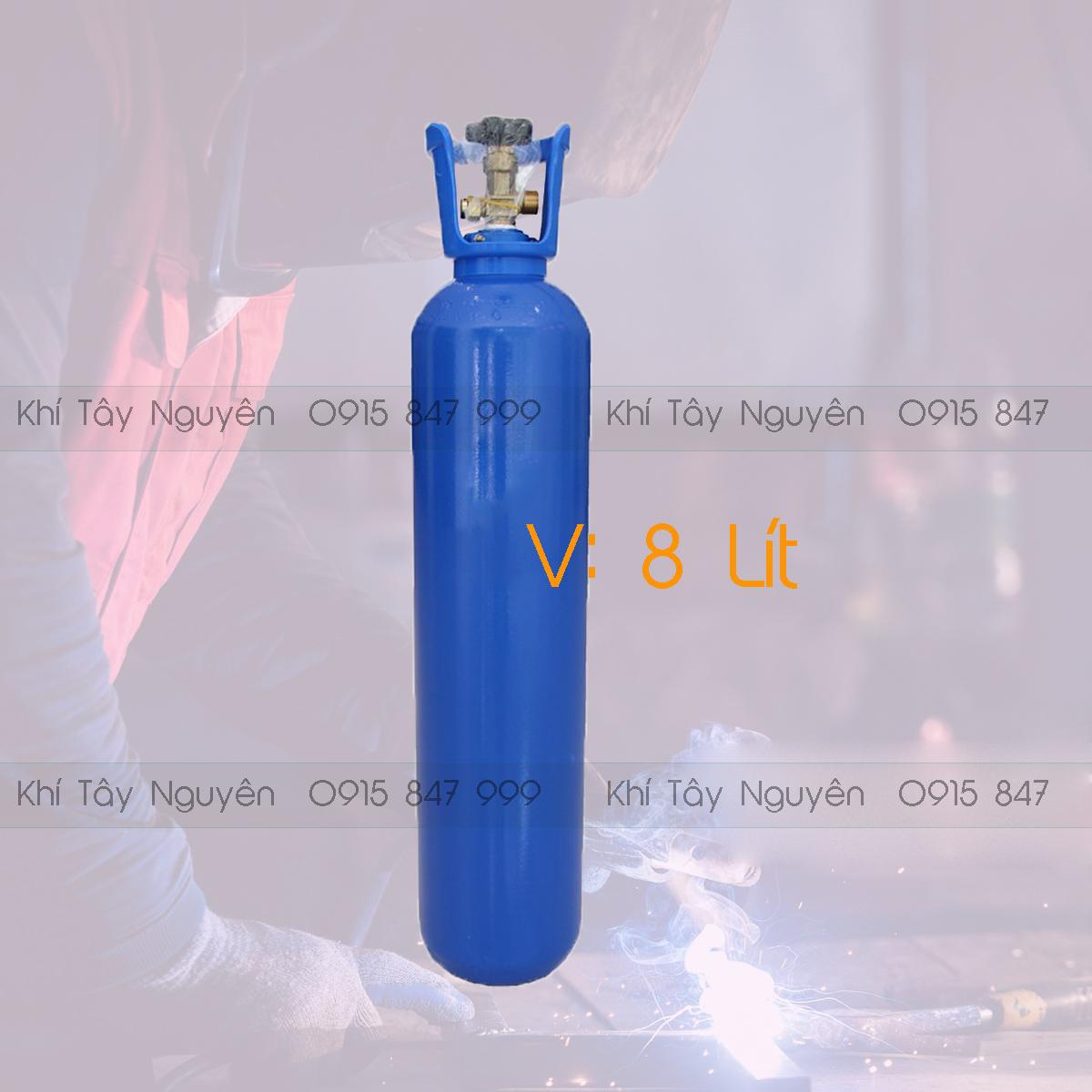 Bình khí Oxy 8 Lít